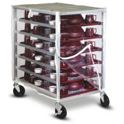 Dinex Zippered Front and Rear Panel Clear Vinyl Transport Cover for Cart -- 1 each.