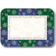 Dinex Size I Straight Edge and Round Corner Silver and Gold Design Paper Placemat, 12 1/2 x 16 1/2 inch -- 100 per case.