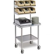 Dinex Stainless Steel Mobile Mini Starter Station with Caster, 30 x 24 inch -- 1 each.