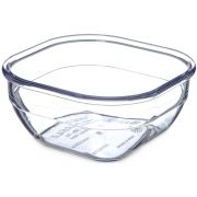 Dinex SAN Clear Square Bowl, 10 Ounce -- 48 per case.