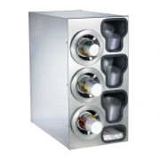 Dispense Rite CTC-C Stainless Combination Cup Dispensing Cabinet, 25 1/4 x 13 x 23 inch -- 1 each.