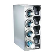 Dispense Rite CTC-C Stainless Combination Cup Dispensing Cabinet, 32 1/4 x 13 x 23 inch -- 1 each.