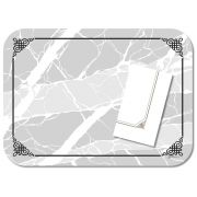 Dinex Straight Edge Round Corner Marble Elegance Wax Coated Decorative Paper Tray Cover, 13 5/8 x 18 3/4 inch -- 1000 per case.