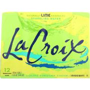 Lacroix Lime Sparkling Water, 12 Fluid Ounce Can -- 24 per case.
