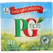 Pg Tips Pyramid Black Tea - 40 bags per pack -- 6 packs per case.