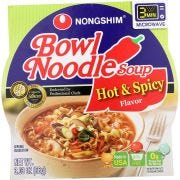 Nong Shim Bowl Hot and Spicy - 3.03 ounce  -- 12 per case.