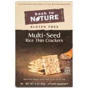 Back to Nature Multi Seed Rice Thin Cracker, 4 Ounce -- 12 per case