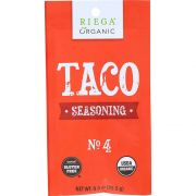 Riega Foods Organic No 4 Taco Seasoning Mix, 0.9 Ounce -- 8 per case.