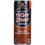 High Brew Coffee Dairy Free Black and Bold Coffee, 8 Fluid Ounce -- 12 per case.
