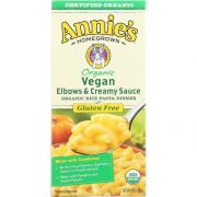 Annies Homegrown Organic Vegan Elbows and Creamy Sauce Rice Pasta Dinner, 6 Ounce -- 12 per case.