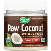 Natures Way Organic Raw Coconut Whole Food, 16 Ounce -- 1 each.