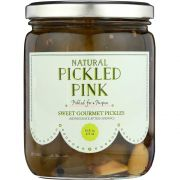 Pickled Pink Sweet Gourmet Pickles, 16 Ounce -- 6 per case.