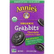 Annies Homegrown Organic Grabbits Chocolate Sandwich Cookie, 8.06 Ounce -- 10 per case.