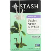 Stash Premium Fusion Green and White Tea - 18 bags per pack -- 6 packs per case.