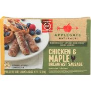 Applegate Farm Natural Chicken and Maple Breakfast Sausage, 7 Ounce -- 12 per case.