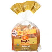Rudis Organic Wheat Hot Dog Rolls -- 8 pack per case.