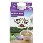 Organic Valley Ultra Pasteurized Half and Half Milk, 16 Fluid Ounce -- 12 per case