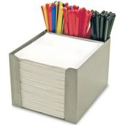 Co-Rect Stainless Steel Square Napkin Holder, 6.25 x 5.875 x 4.75 inch -- 12 per case.