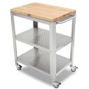 John Boos Removable Maple Top Cream Finish Cucina Culinarte Cart, 30 x 20 x 1.5 inch -- 1 each.