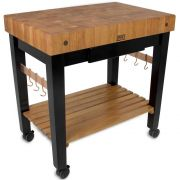 John Boos Cherry Pro Prep Block with Casters and Drawer, 36 x 24 x 4 inch -- 1 each.