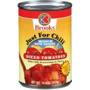 Brooks Just For Chili Medium Diced Tomatoes with Onions, 14.5 Ounce -- 12 per case.