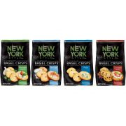 New York Style Assorted 4 Flavor Bagel Crisps, 7.2 Ounce -- 72 per case.
