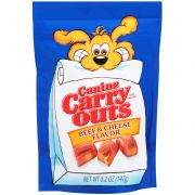 Canine Carry Outs Beef and Cheese Flavor Chewy Snacks, 5.2 Ounce -- 12 per case.