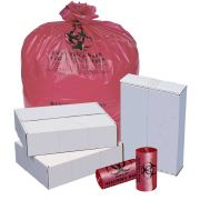 Pitt Plastics Red Perforated High Density Isolation Can Liner 33 x 40 -- 250 per case.