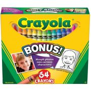 Crayola Colored Crayons - 64 per pack -- 48 packs per case.