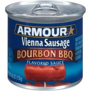 Armour Bourbon BBQ Flavored Sauce Vienna Sausage, 4.6 Ounce -- 24 per case.