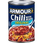 Armour Original Chili with Beans, 14 Ounce -- 12 per case.