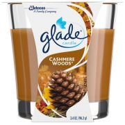 Glade Cashmere Woods Candle, 3.4 Ounce -- 6 per case.