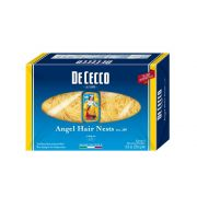 Dececco Enriched Macaroni Angel Hair Pasta, 08.8 Ounce -- 12 per case.