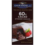 Ghirardelli 60 Percent Cacao Bittersweet Chocolate Baking Bar, 4 Ounce -- 12 per case.