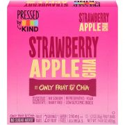 Pressed By Kind Strawberry Apple Chia Fruit Bar, 1.2 Ounce -- 72 per case.