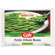 C and W Petite Whole Green Beans, 14 Ounce -- 12 per case.