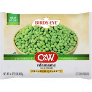 C and W Edamame Shelled Soybean, 16 Ounce -- 12 per case.