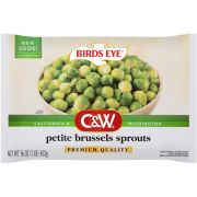 C and W Petite Brussels Sprouts, 16 Ounce -- 12 per case.