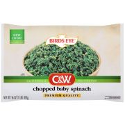 Birds Eye C and W Chopped Baby Spinach, 16 Ounce -- 12 per case.