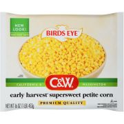 Birds Eye C and W Early Harvest Supersweet Petite Corn, 16 Ounce -- 12 per case.