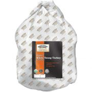 Organic Prairie Medium Whole Young Turkey with Giblets, 14.42 Pound -- 4 per case.