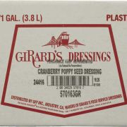 Girards Cranberry Poppyseed Dressing, 1 Gallon -- 2 per case.