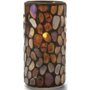 Hollowick Pebble Amber Tall Glass Cylinder, 6 x 3 x 3 inch -- 1 each.