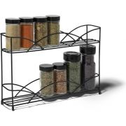 Spectrum Black Countertop 2 Tier Spice Rack, 8.5 x 3 x 13 inch -- 1 each.
