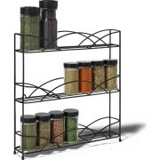Spectrum Black Countertop 3 Tier Spice Rack, 13.5 x 3 x 13 inch -- 1 each.