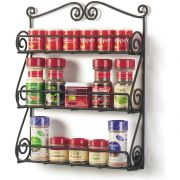 Spectrum Black 3 Tier Scroll Wall Mount Spice Rack, 15.25 x 2.75 x 12.5 inch -- 1 each.