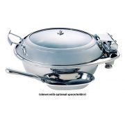 Smart Large Round Stainless Steel Chafing Dish with Glass Lid, 19.5 x 17 x 8.25 inch -- 1 each.