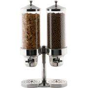 Smart Double Stainless Steel Cereal Dispenser with Acrylic Cylinder, 12 x 8.75 x 23 inch -- 1 each.