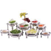 Smart Domino Multi Stand Chiller Display with NSF Coated Aluminum Dishes, 27 x 58 x 26 inch -- 1 each.