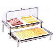 Smart Domino Double Cold Display with Acrylic Domed Cover, 27 x 25.5 x 22 inch -- 1 each.